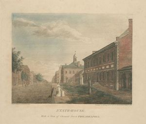 State-House, with a view of Chesnut Street Philadelphia