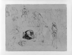 Figure Studies after Rembrandt Etchings