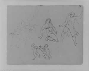 Seated, Bearded Man; Lucretia; Three Dancing Putti