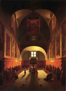 The Interior of the Capuchin Chapel In the Piazza Barberini (after Francois Marius Granet)