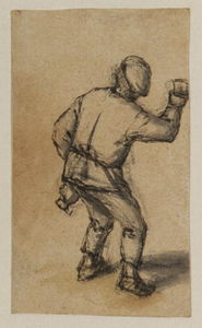 Peasant With A Bottle And Glass 1