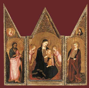 The Madonna of Humility with Saint Catherine and Saint John the Baptist
