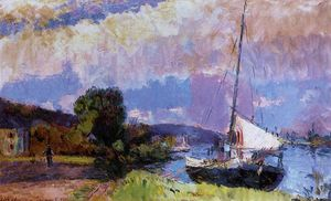 The Banks of the Seine. Caumont in Summer