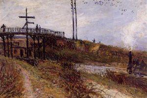 Footbridge over the Railroad at Sevres
