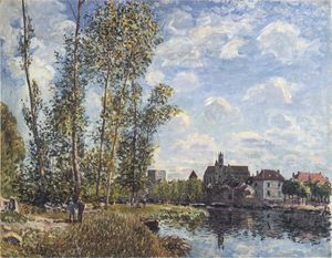May Afternoon on the Loing