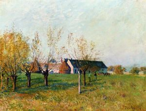 The Farm at Trou d Enfer, Autumn Morning
