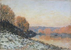 The Seine at Bougival in Winter