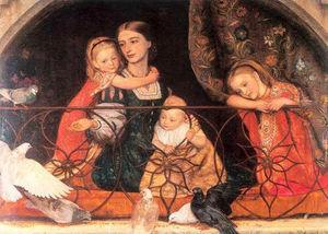 Mrs James Leathart and Children