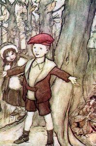 Fairies Behind the Tree