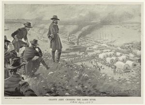 Grant's army crossing the James River