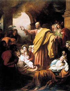 Saint Peter Preaching at Pentecost