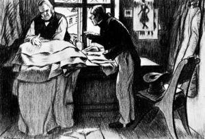 Akaky Akakiyevich at Petrovich's