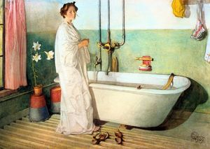 Lisbeth Prepares A Bath