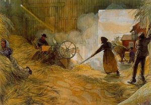 Threshing Grain