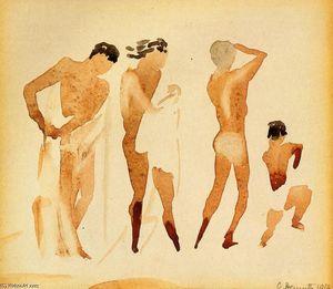 Simi-Nude Figures