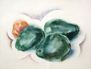Three Pears and a Peach