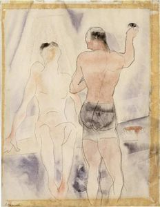 Two Figures. Turkish Bath