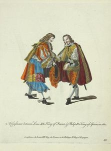 A conference between Louis XIV King of France and Philip IV KIng of Spain in 1660
