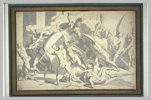 Combattimento de guerriers vêtus à l antique