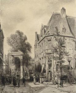 A busy street in Weesp