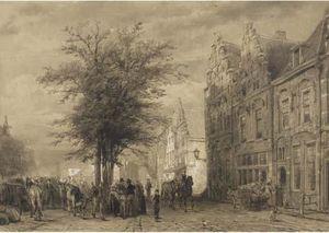 Markt te Oudewater. A farmers market
