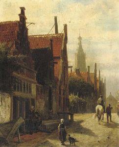 Townspeople on the Vijzelstraat, Enkhuizen
