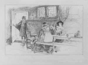 In a Tavern, Illustration for Phillada Flouts Me
