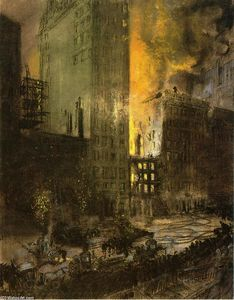 Fire on 24th Street, New York City