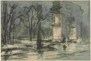 View of Washington Square, New York