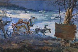 Winter Circus Caravan