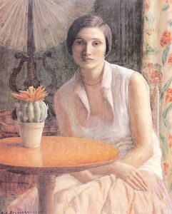 Portrait of a Woman with a Cactus