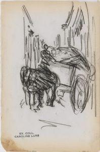 Wagon in Alleyway