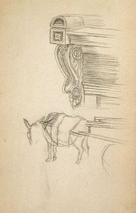 Decorative Moulding and Horse and Cart