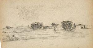 Grain Wagons in Field