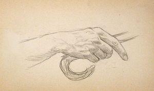 Hand Holding Cane