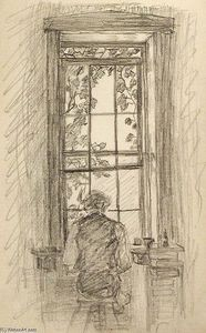 Man Seated by Window