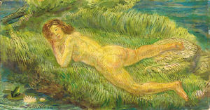 Nude and Frog