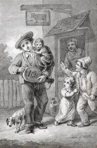 THE HURDY-GURDY PLAYER AND HIS MONKEY
