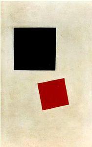 Cuadrado negro y Cuadrado rojo