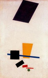Suprematism Painterly Realism of a Football Player. Color Masses in the fourth Dimension