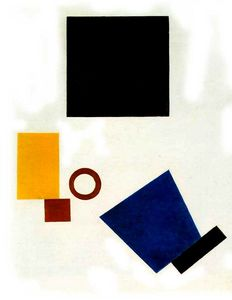 Suprematism. Self-portrait in two dimensions