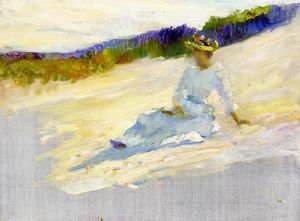 Sunlight, Girl on Beach, Avalon