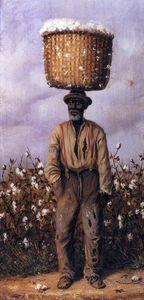 Negro Man with Cotton Basket on Head