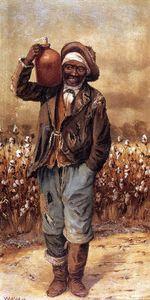 Negro Man with Jug on Shoulder