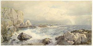 Rocks and Cliffs near the Sea