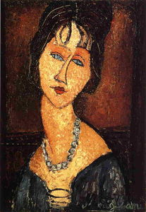 Jeanne Hebuterne with Necklace
