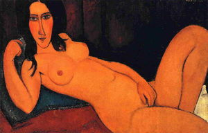 Reclining Nude with Loose Hair
