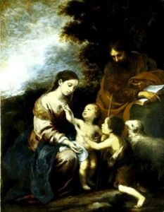Sagrada Familia con San Juan niño