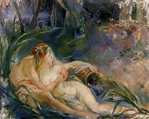 Two Nymphs Embracing