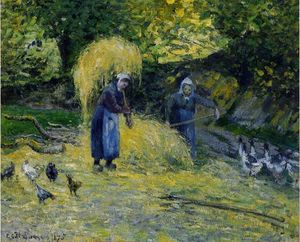 Peasants Carrying Straw, Montfoucault